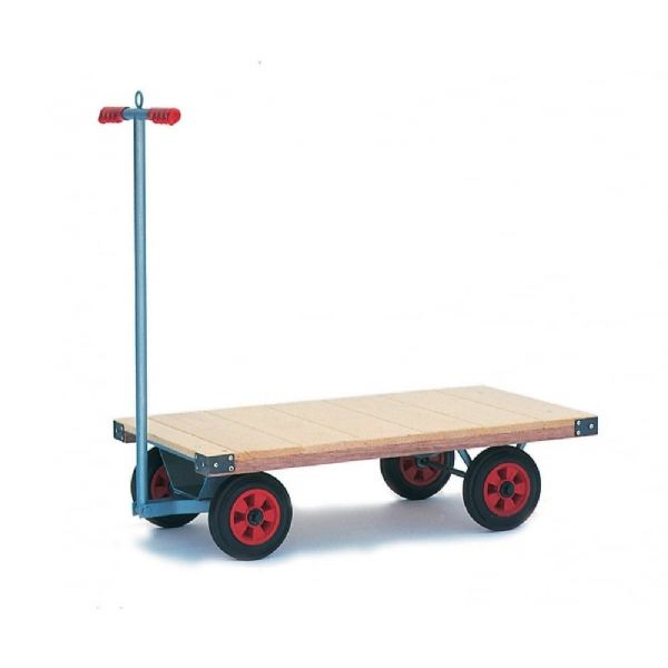 Small Flatbed Turntable Truck With Puncture Proof Wheels